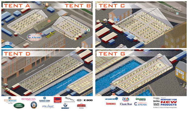 Newport International Boat Show map of tents