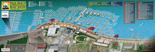 Palm Beach International Boat Show map 2012