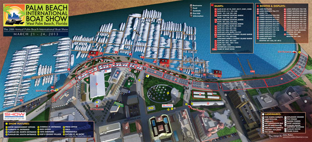 Palm Beach International Boat Show map 2013