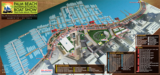 Palm Beach International Boat Show map 2014