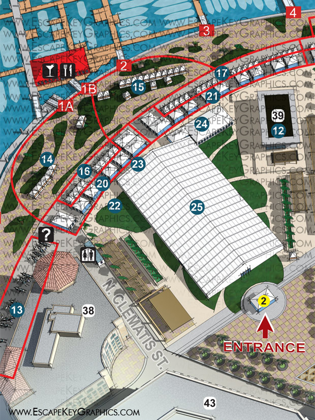 Palm Beach International Boat Show map 2014 detail