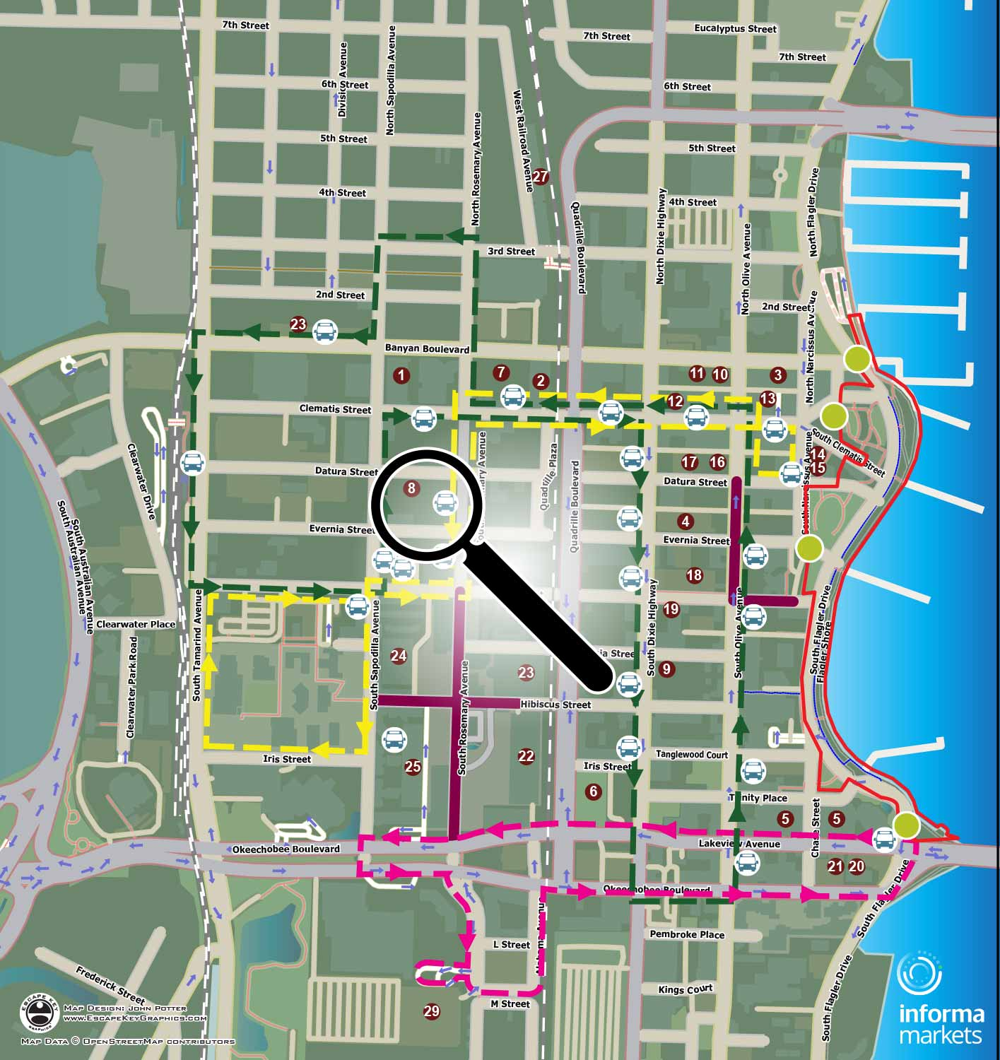 boat show parking and transportation map