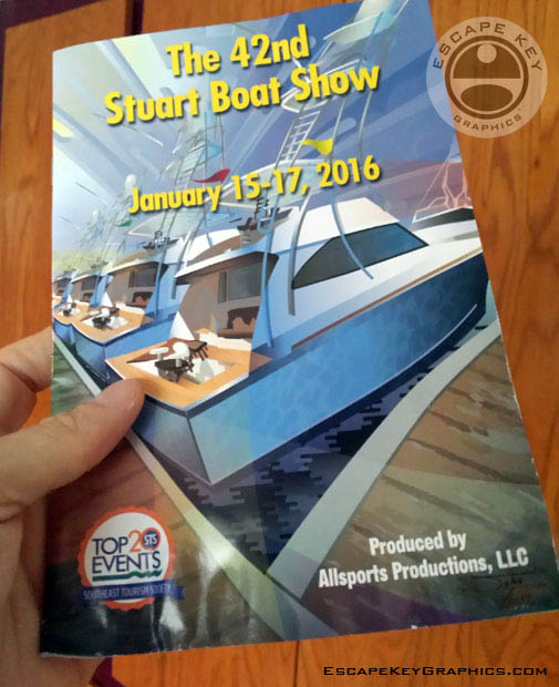 Stuart Boat Show program cover illustration