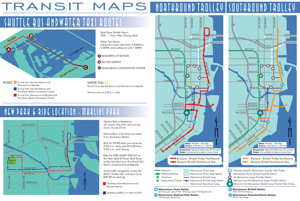 Downtown Miami Mass Transit Map