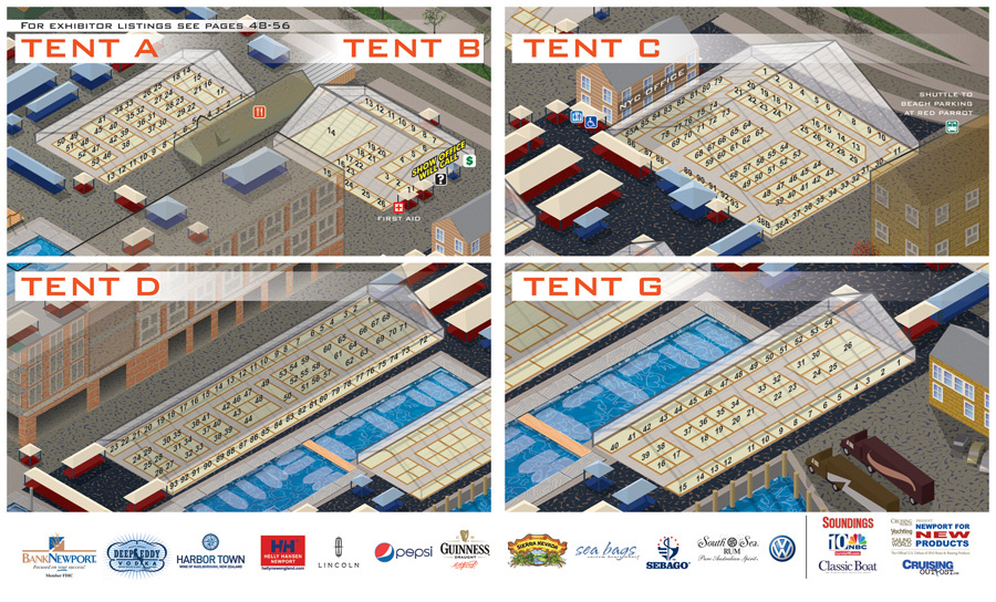 Newport Boat Show Map Details