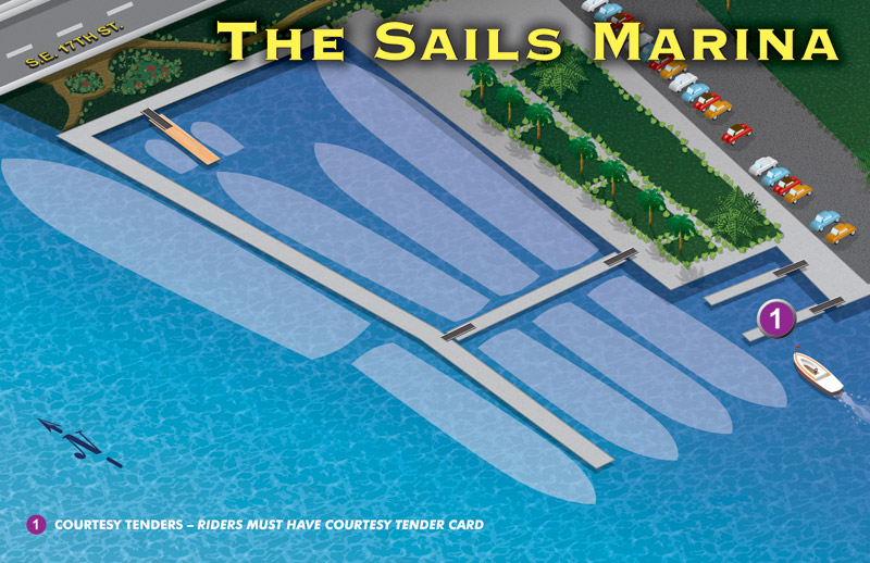Sails Marina Map