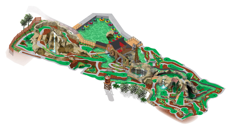 miniature golf course map