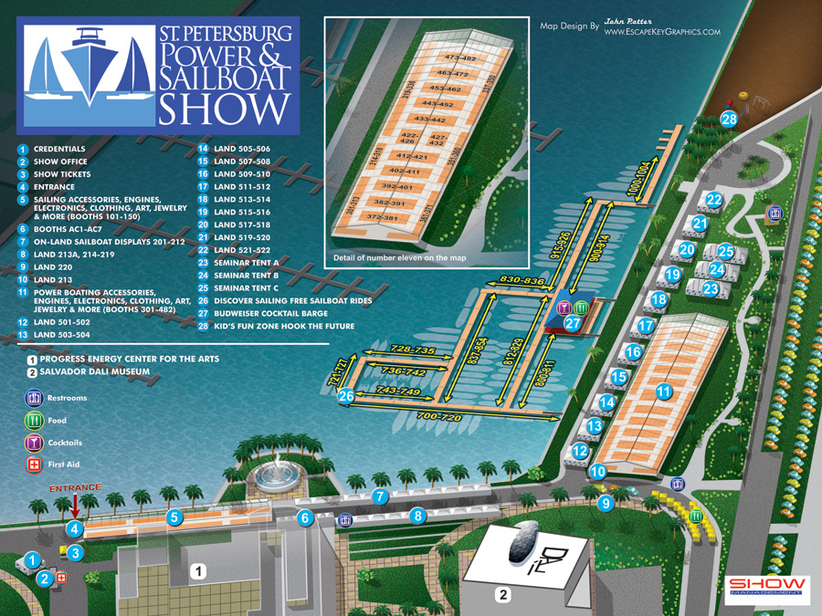 Boat Show Visitor Maps